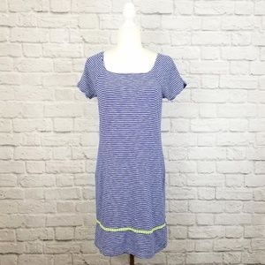 Vineyard Vines blue white striped t-shirt dress